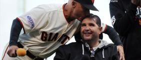 Bryan Stow plays part in Game 4 pregame festivities | CSN Bay Area- with Tim Flannery