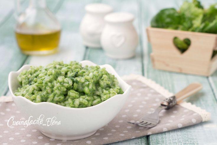 risotto con crema di spinaci