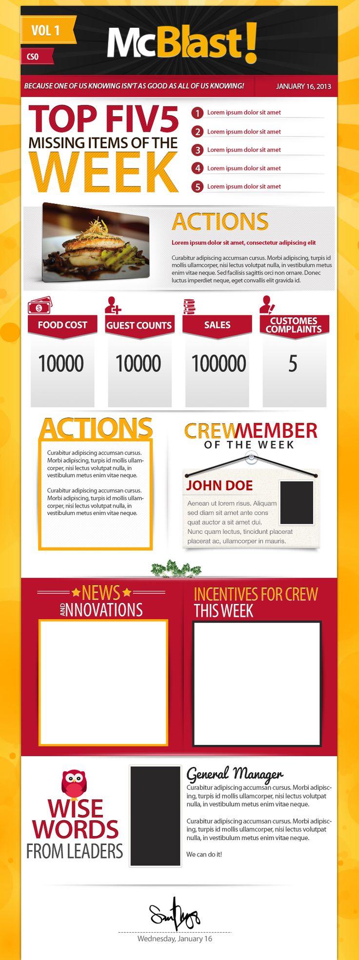 22 best newsletter design ideas images on pinterest for Newsletter design inspiration