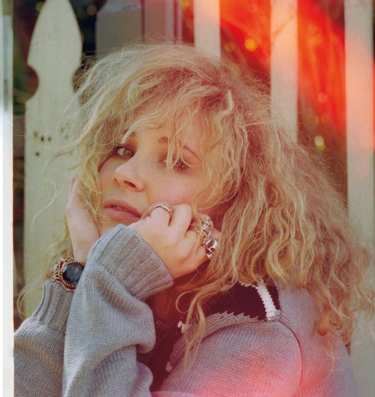 juno temple photography beau grealy cardigan miu miu. jewelry model's own.