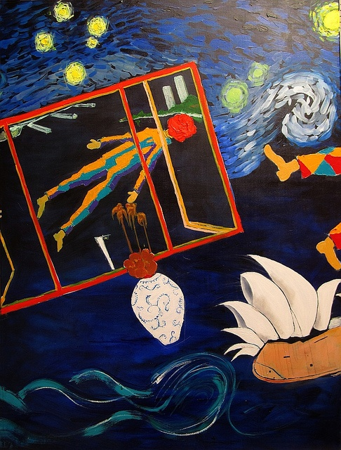 Peter Pan over Lavender Bay by Harry Kent (Panel #2 of the triptych 'Brett Whiteley's starry night').