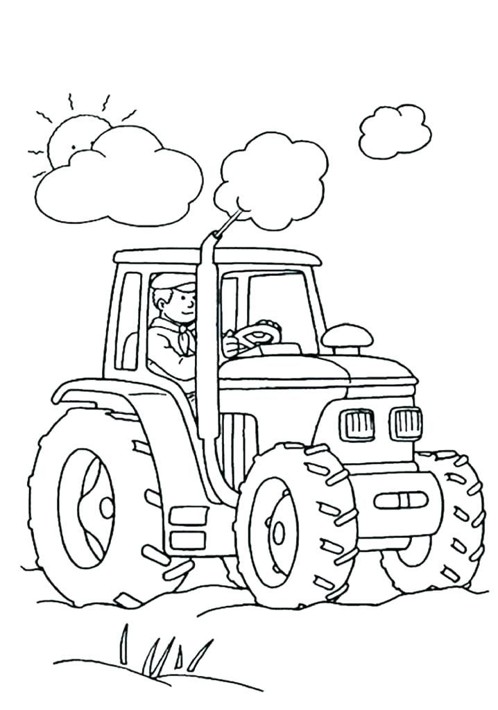Farm Coloring Pages Country Market Tractor Coloring Pages