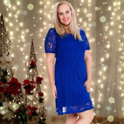 Royal Blue Lace Dress  #skaterdress #fashion #style #shopping #blackfriday #sale #christmas #party #plussize  #plussizefashion