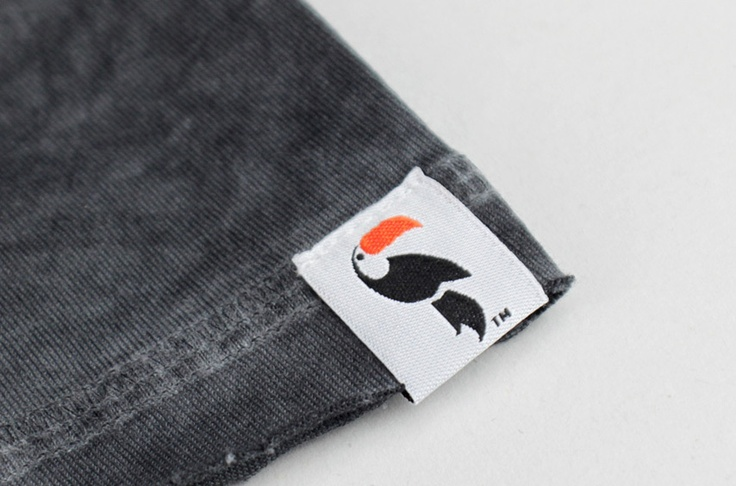 CeeGee clothing tag #two_color #embroidered #toucan
