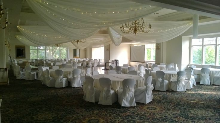 209 best ceiling drape lights images on pinterest ceiling trey ivory ceiling drape ivory chair covers with ivory organza sashes low bow at junglespirit Choice Image