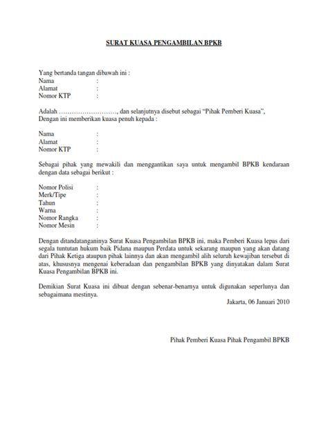 Contoh Surat Kuasa Penggantian Kartu Xl Contoh Surat Kuasa
