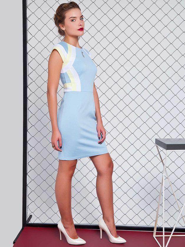 festliches etuikleid in pastellfarben/ elegant shift dress