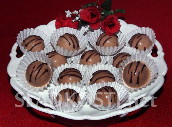 Karamelové pralinky s hořkou čokoládou