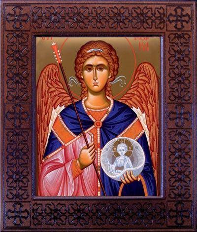 St Gabriel the Archangel  http://catalog.obitel-minsk.com/008-ipg-arhangel-gavriil-23-5x30.html #Orthodox #Icons - #OrthodoxIcons - #Eastern #Orthodoxy, #Saint, #Miracle, #Blessed #Faith #Painted #Saint #Archangel #Gabriel
