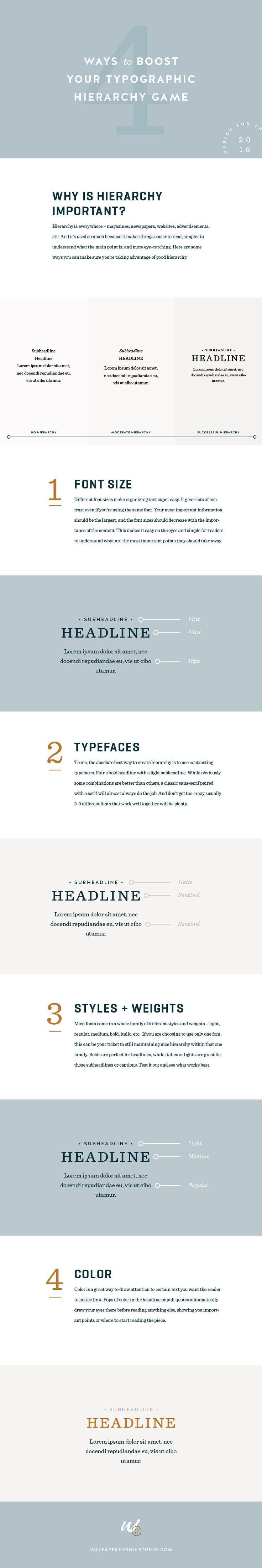 4 Ways to Boost Your Typographic Hierarchy Game #typography #design #graphicdesign #blogger #blogging #advice #tips #blog