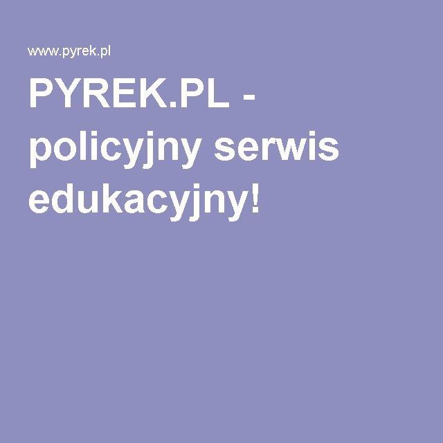 PYREK.PL - policyjny serwis edukacyjny!