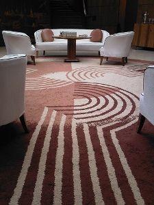 US Art Deco:  Geometric Carpet by Marion Dorn at Eltham Palace. UK.