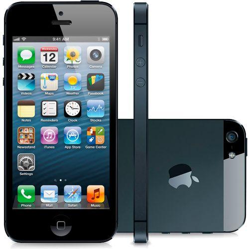 """iPhone 5 16GB Preto - Apple - iOS 6 - Câmera de 8MP - 3G - Wi-Fi - GPS - Tela Multi-Touch 4"""" - Desbloqueado Compre em oferta por R$ 699.00 no Saldão da Informática disponível em até 6x de R$116,50. Por apenas 699.00"""