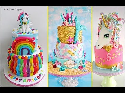 Top 10 Cake Decoration Birthday for girls o(≧∇≦o) Cake Styles - Satisfying videos 2017 - YouTube