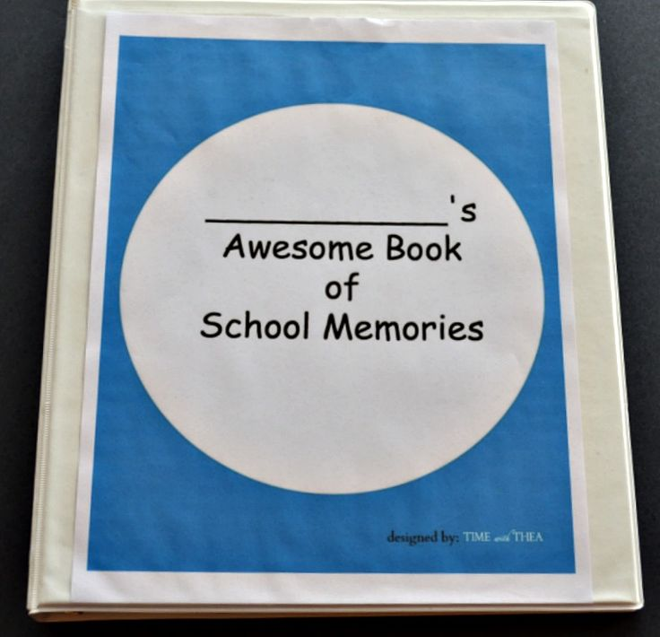 Blog post at Time With Thea : Make A School Memory Book With Your Child~Instructions and printables to help you make a very special memory book with your child showca[..]