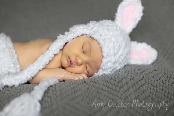 Newborn Bunny Hat - Baby Bunny Hat  - Baby Hats - Easter Photography Hat - Baby Bunny Hat - by JoJosBootique