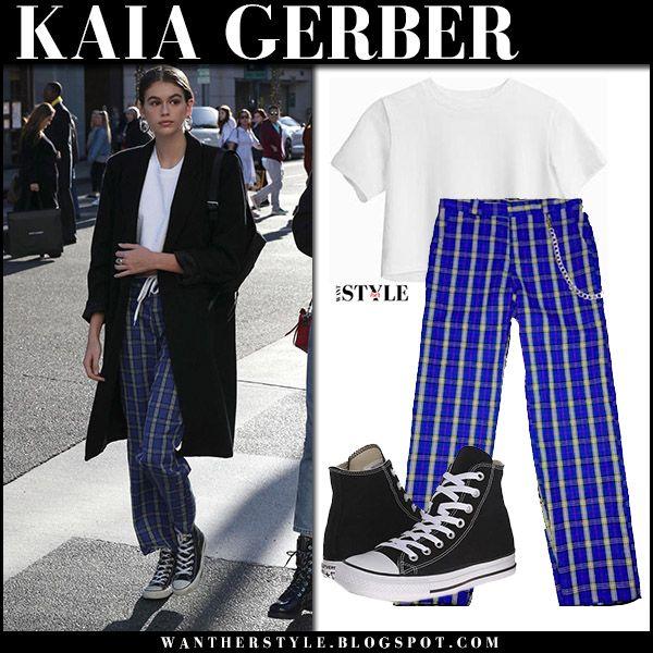 Risultati immagini per kaia gerber white pants