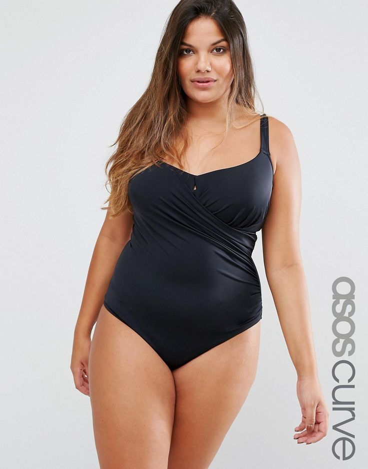 ASOS CURVE Miracle Swimsuit - Black