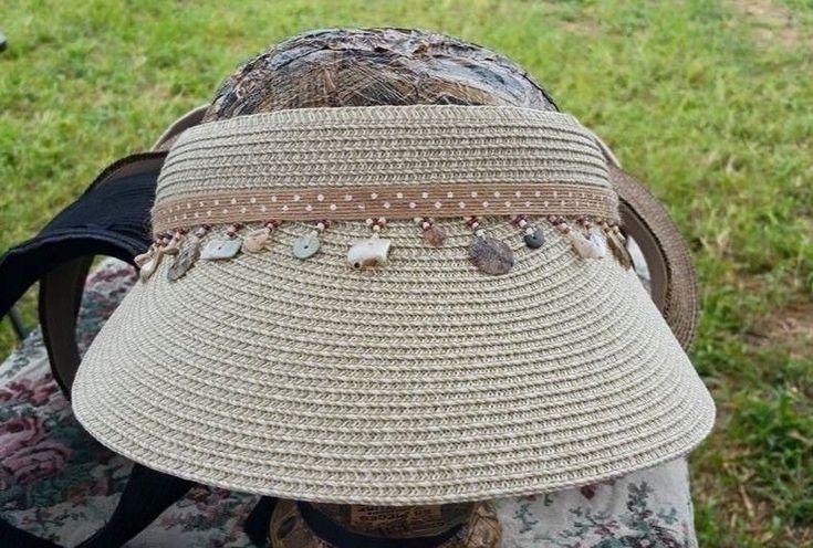 Velcro Visor Women Ladies Sun Hat Brim Sports Cap Colors Golf Tennis Beach New #Handmade #Visor