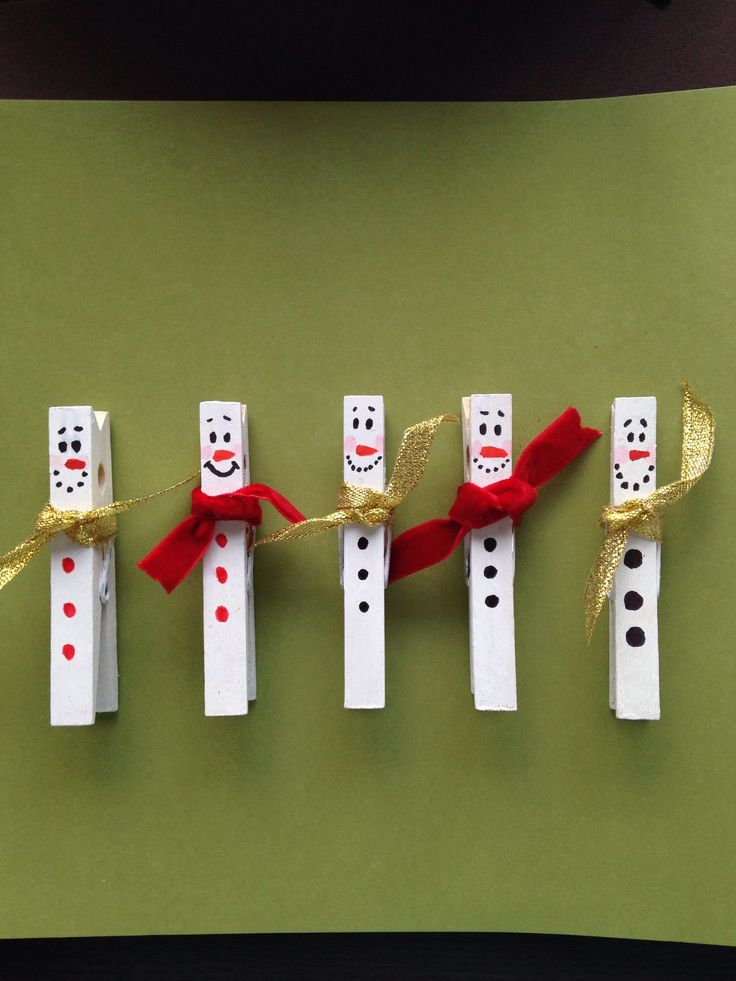 Christmas decoration pegs.