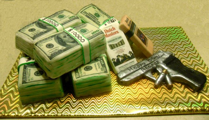 money and gun cakes | Published at 1228 × 707 in Money, Dutch Masters and Collectables