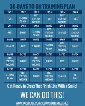 30 Days to 5K Training Challenge