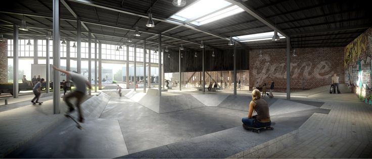 EFFEKT Wins Contest to Redevelop Abandoned Train Shed in Esbjerg with Streetmekka