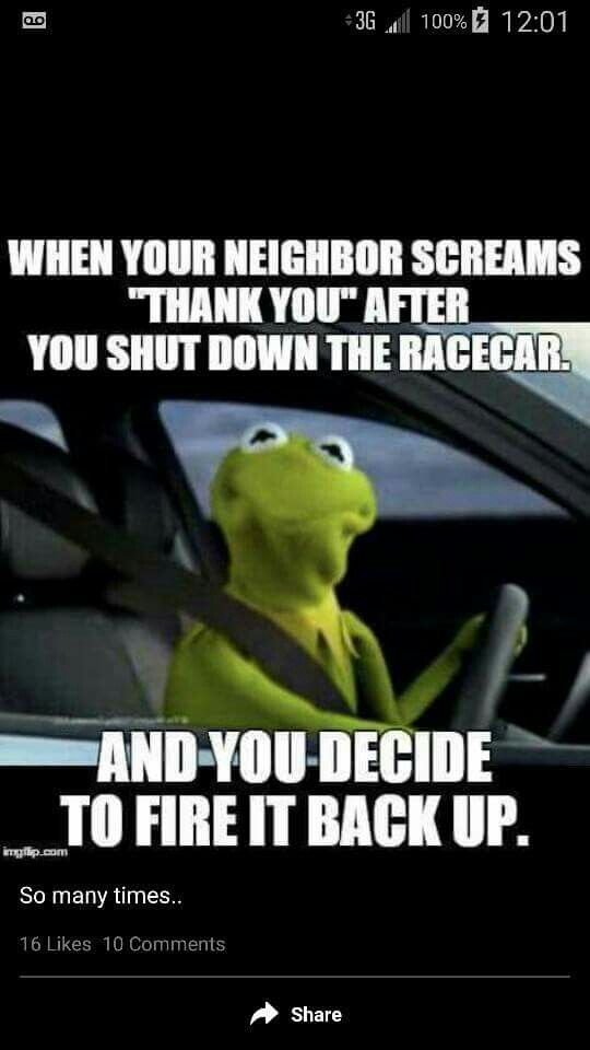 Drag Race Car Sayings