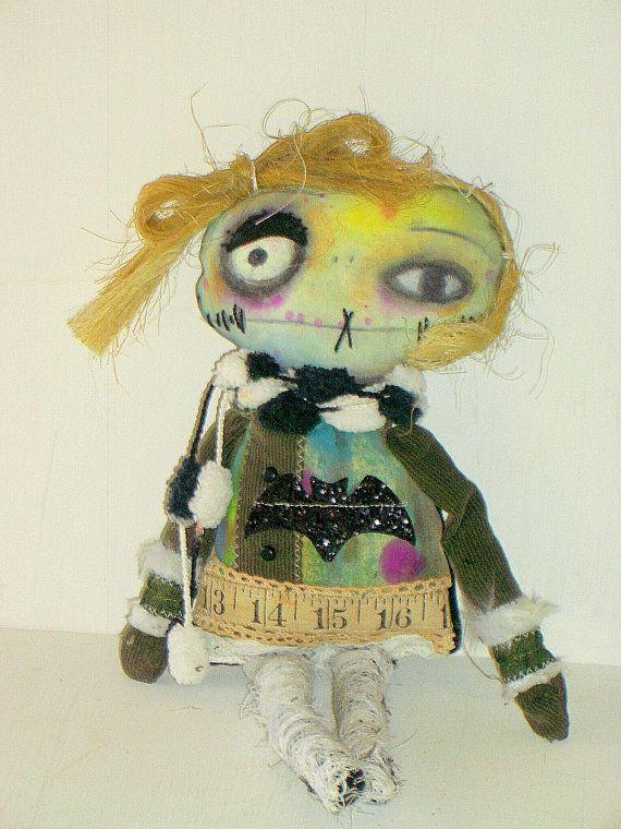 Handmade Monster Plush- Monster Doll - Doll - Softie- Gabriel - art doll -