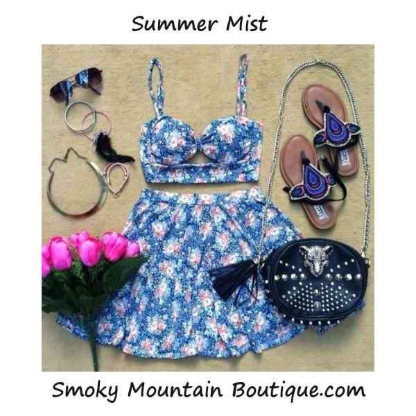 Summer Mist Matching Top and Skirt with Adustable Straps