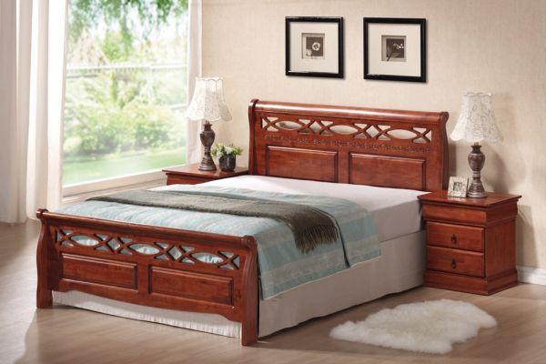 Manželská posteľ Signal - Genewa A Krásna manželská posteľ so starožitným dizajnom pre vintage štýl vašej spálne.