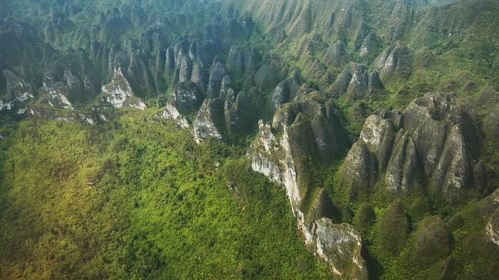 Karst Mangkalihat di Sangkulirang, Kabupaten Kutai Timur, Kalimantan Timur