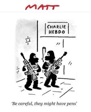 http://www.elle.fr/Societe/News/Charlie-Hebdo-les-illustrateurs-du-monde-entier-rendent-hommage-au-journal/Matt-illustrateur-britannique #jesuischarlie #CharlieHebdo
