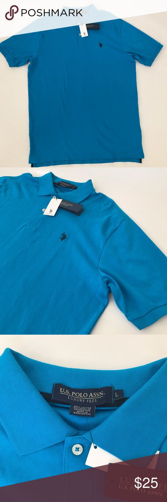 Men's Polo Shirt Look fresh and be comfortable in this nice breathable cotton. 100% Cotton. Please note that the XL is NOT nwt but is in still pristine condition. U.S. Polo Assn. Shirts Polos