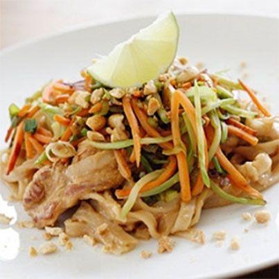 Asian Peanut Noodles with Chicken | Gluten Free | Pinterest