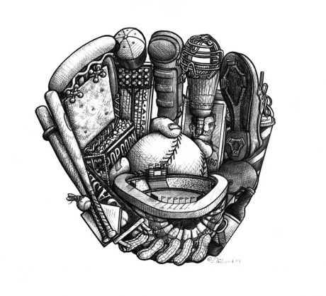 BASEBALL GLOVE: Take me out to the ball game with Hot Dogs, Peanuts and Cracker Jacks. Don't miss the Bunting and the Fly Ball.