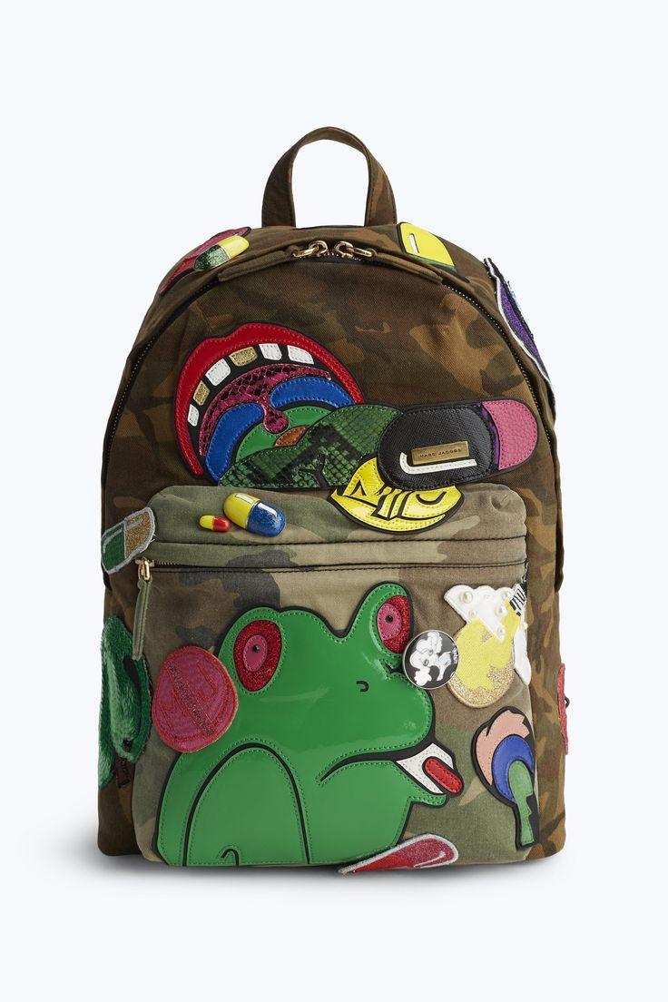 MARC JACOBS Julie Verhoeven Camo Biker Backpack. #marcjacobs #bags #backpacks #cotton #