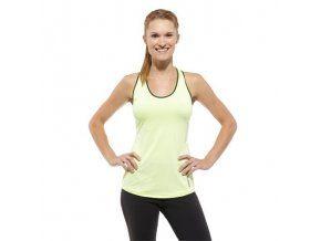 Lehké fitness tílko Reebok s reflexními prvky. Pevný sportovní top ve výrazné barvě citrónové kůry s reflexními prvky a speciálními zónami pro odvod vlhkosti.