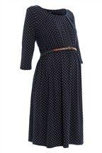 Navy Spot Dress (Maternity)