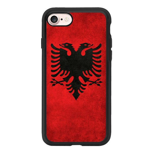 Vintage Albanian Flag - iPhone 7 Case And Cover ($40) ❤ liked on Polyvore featuring accessories, tech accessories, phone cases, iphone case, iphone cases, clear iphone case, apple iphone case, vintage iphone case and iphone cover case