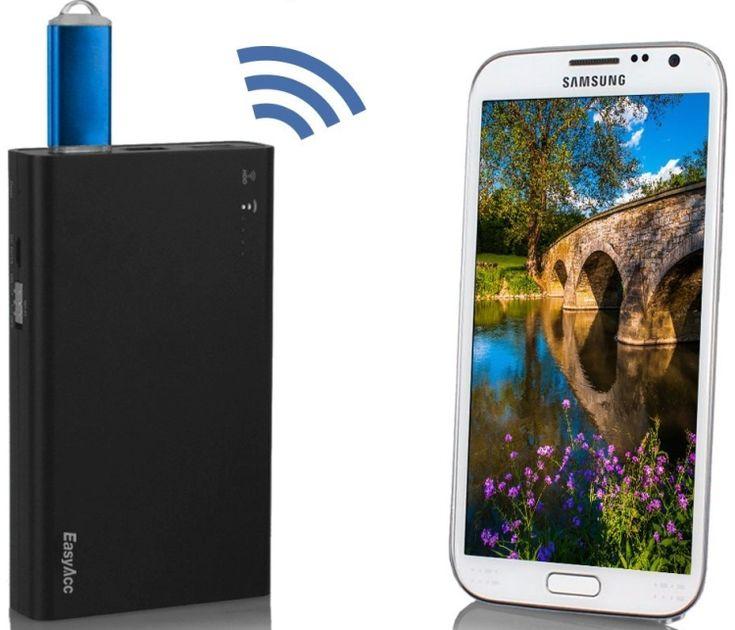 Portable Wifi Wireless SD Card Reader  USB External HDD / SDD / USB Flash Disk Reader