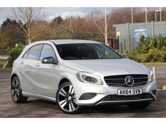 Used 2015 (64 reg) Polar Silver Mercedes-Benz A Class Sport for sale on RAC Cars