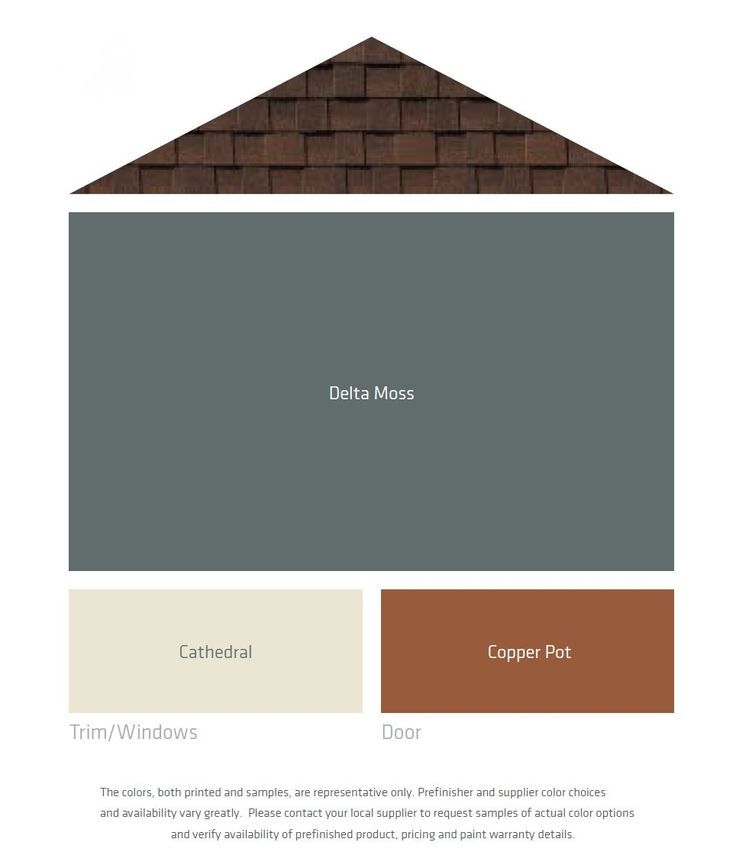 Exterior Color Palettes for a Brown Roof - this one is exactly what I was envisioning