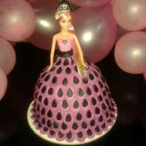 Barbie Peacock grown cake