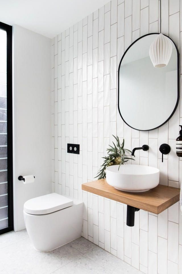 Vertical Stacked Subway Tile Installation Trend Apartment