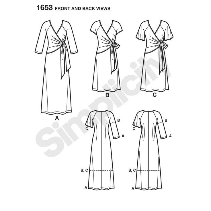 Mejores 9 imágenes de pattern stash dresses en Pinterest | Moldes de ...