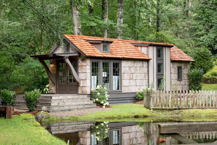 The Exterior - We Just Found the Tiny House of Your Dreams - Southernliving. No official price points have been given to the tiny home yet, but judging by the poplar bark siding and cedar shake roof we're guessing it will likely have a luxurious price tag to match.