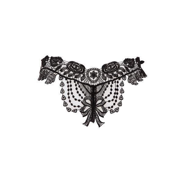 Belle Et Bonbon Black Bisoux Brief (145 CAD) ❤ liked on Polyvore featuring intimates and panties - lingerie, romantic, honeymoon, bodysuit, renda, romantic lingerie *ad