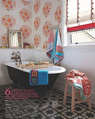 love the shade!: Vintage Bathroom, Interiors, Clawfoot Tubs, Bathroom Designs, Country Style Bathroom, House, Retro Bathroom, Bathroom Decor, Bathroom Wallpapers