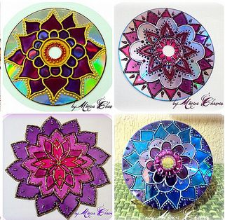 different mandala projects, art therapy